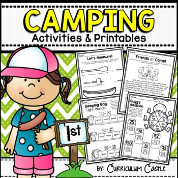 Camping First (1st) Grade Math & Literacy Printables