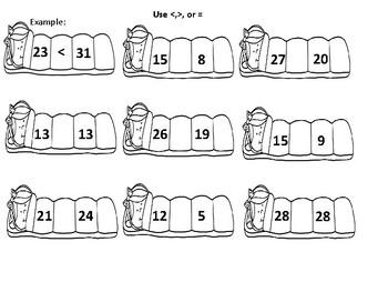 Camping First Grade Math Skills Review