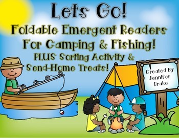 Camping & Fishing Foldable Emergent Readers!  Printable &