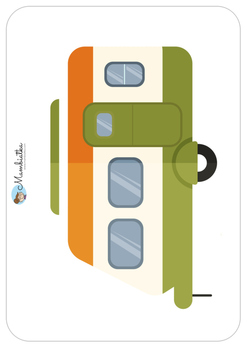 Camping Flash cards and word cards for kids