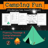 Camping Fluency Passage, Comprehension & Color by Sight Word {Kindergarten}