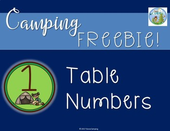 Camping Freebie!  Table Numbers