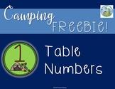 Camping Freebie!  Table Numbers