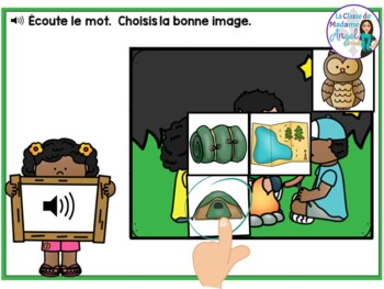 Camping:  French Summer themed Digital Task Cards - BOOM CARDS
