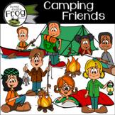 Camping Friends Clip Art