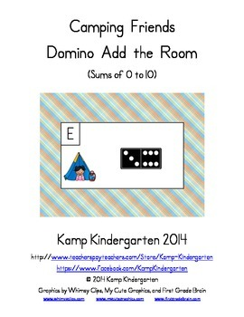 Camping Friends Domino Add the Room (Sums of 0 to 10)