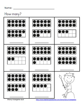 Camping Friends Ten Frames No-Prep Printables (Quantities of 11 to 20)