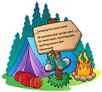 Camping Fun Word Work Packet – 15 words no prep spelling p