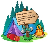 Camping Fun Word Work Packet – 20 words no prep spelling packet, 70 pages