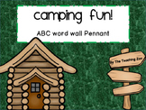Camping Fun! ABC Word Wall Pennant Banner for Classroom Decor