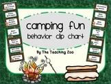 Camping Fun! Behavior Clip Chart