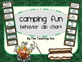 Camping Fun! Behavior Clip Chart