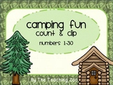 Camping Fun! Count & Clip Numbers 1- 30 Task Cards