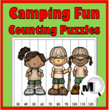 Camping Theme - Camping Math - Number Puzzles