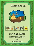 Camping Theme Cut and Paste Worksheets Kindergarten Distan