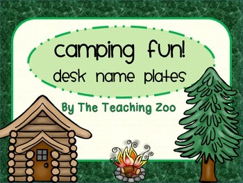 Camping Fun! Desk Name Plates