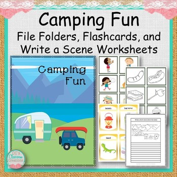 Camping Fun File Folders, Flashcards and Write a Scene Worksheets