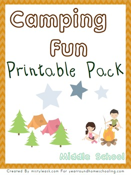 Camping Fun Learning Pack (Middle School)