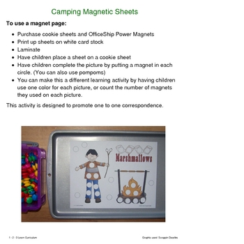 Camping Fun Magnet Sheets