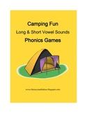 Camping Fun Phonics Vowel Sounds Games