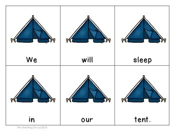 Camping Fun! Scrambled Sentences