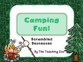 Camping Fun! Scrambled Sentences