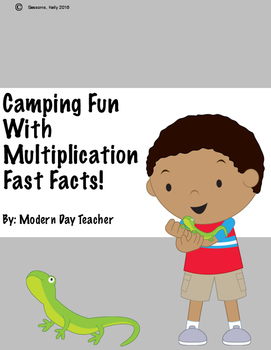 Camping Fun With Multiplication Fast Facts!