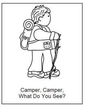 Camping Fun - Worksheets and Crafts