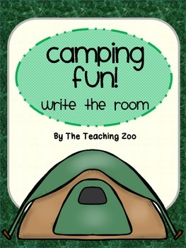 Camping Fun! Write the Room