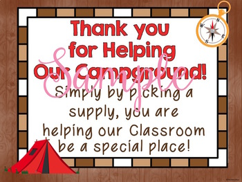"""Camping """"Giving Tree"""" Donations"""