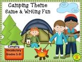 Camping Game and Writing Fun