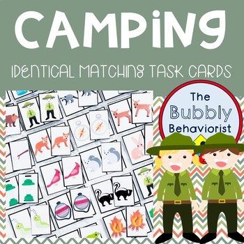 Camping Identical Matching Cards