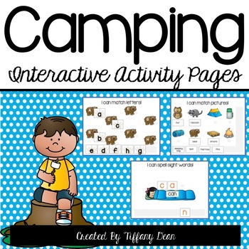 Camping Interactive Activity Pages