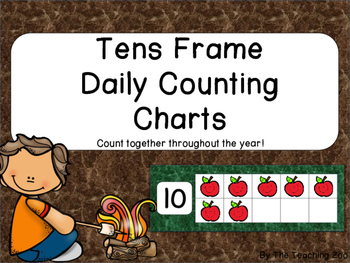 Camping Interactive Counting the Days of School Bulletin Board