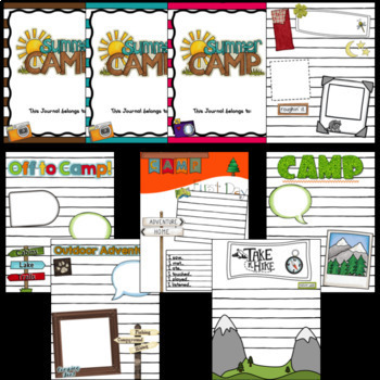 Camping Journal/Notebook ~ Editable