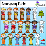Camping Kids Clip Art Collection (print)