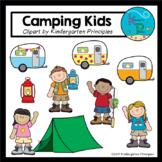 Camping Kids (Camping Clipart Set)