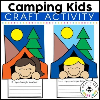 Camping Kids Cut and Paste