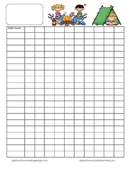 Camping Kids Newsletter Template and Class Forms