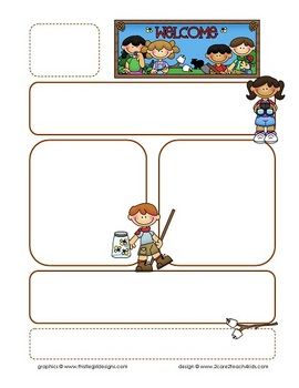 Camping Kids Newsletter Template