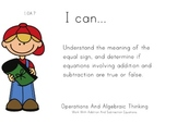 Camping Kids Theme 1st grade math Common Core Posters first Grade Standards