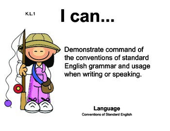 Camping Kindergarten English Common core standards posters