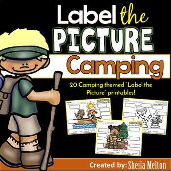 Camping Label the Picture