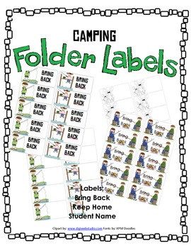 Camping Labels | Bring Back | Keep At Home | Blank Labels