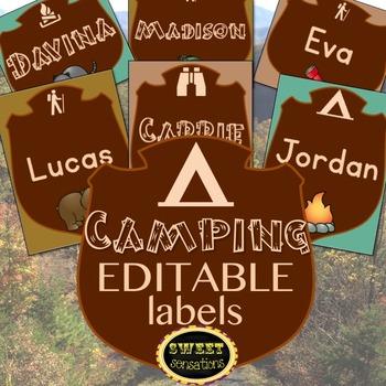 Camping Labels (EDITABLE)