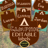 Camping Theme Labels | Camping Themed Classroom Decor