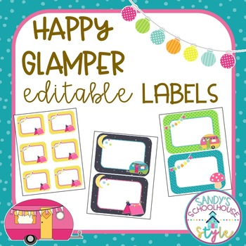 Camping Labels Galore-Classroom Theme Decor