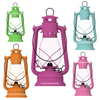 Camping Lantern Clipart, Summer Clipart, Commercial Use Graphics