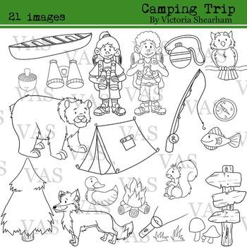 Camping Line Clip Art clipart