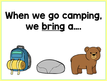 Camping Listening For Details | Boom Cards™ | Teletherapy Freebie